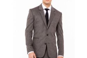 Surface to Air Grey Flannel Suit Jacket